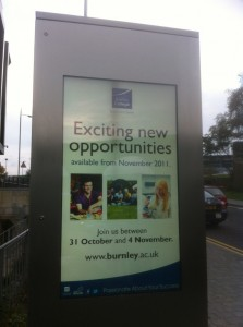 Outdoor Digital Signage Installation - Burnley College
