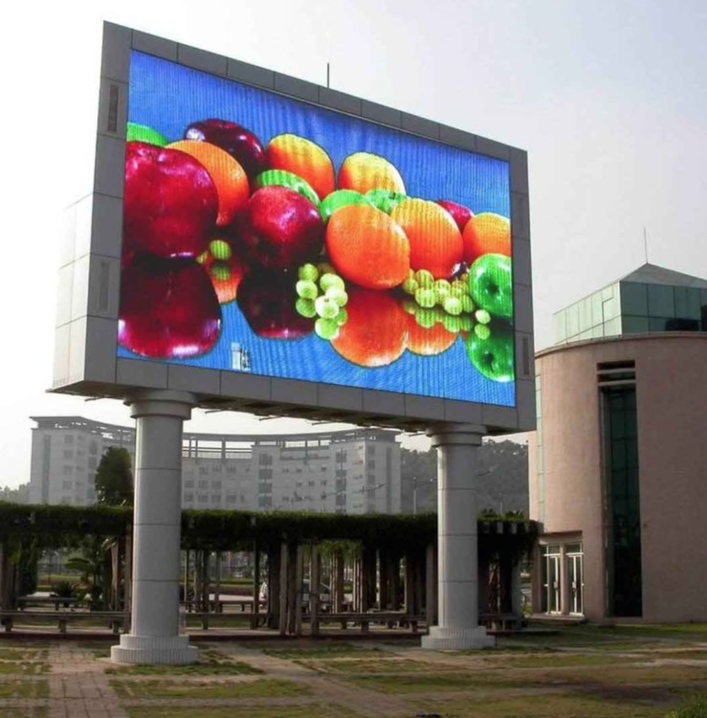 Big screen outdoor led tv for Exterior led screen