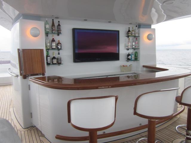 Super Yacht Outdoor TV Installation