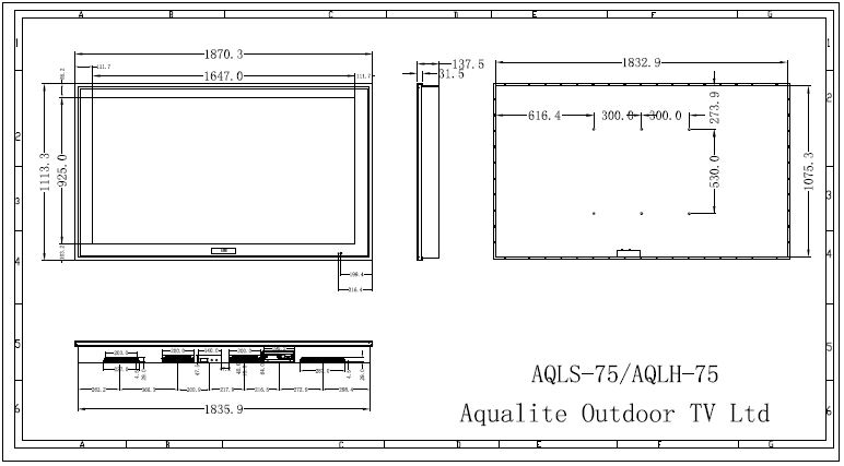 AQLH75 Outdoor TV